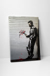 Banksy Waiting in Vain Canvas Wall Art