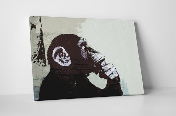 Banksy The Thinker Monkey Canvas Wall Art