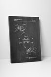 Star Wars X-Wing Patent Canvas Wall Art