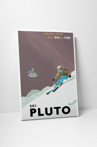 Steve Thomas Ski Pluto Canvas Wall Art