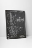 Fender Guitar Pickups Patent Canvas Wall Art