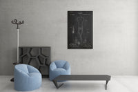 Stethoscope Patent Canvas Wall Art
