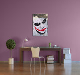 Banksy Batman Joker Stretched Canvas Wall Art