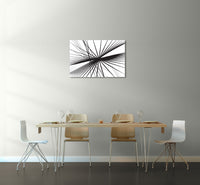 Umbrella Spokes Refracted Canvas Wall Art