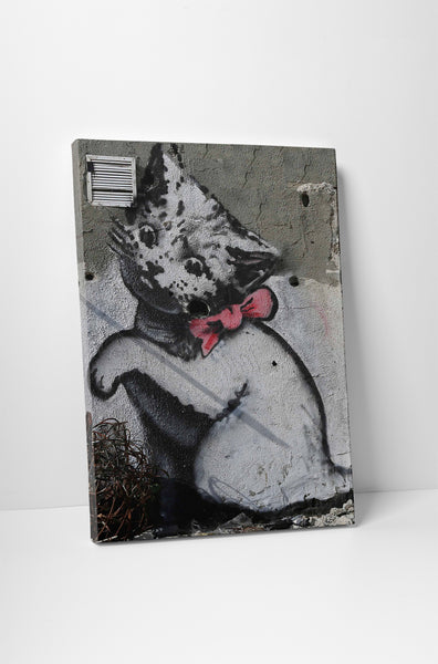 Banksy - Kitten With Pink Bow