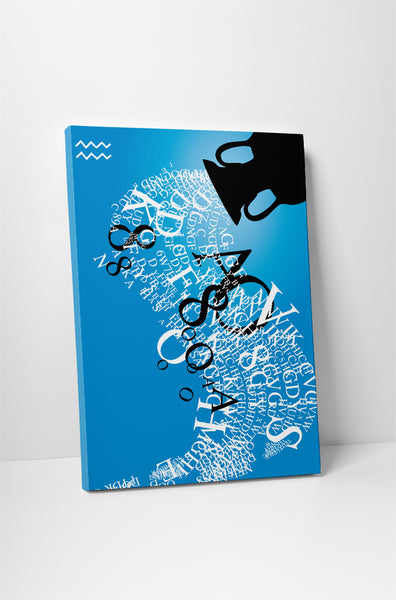 Zodiac Sign Aquarius Canvas Wall Art