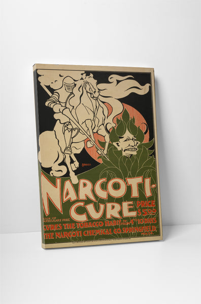 Vintage Ad Poster Narcoti Cure Canvas Wall Art
