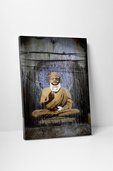 Banksy Injured Buddha Canvas Wall Art