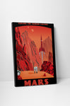 Steve Thomas Crimson Canyons of Mars Canvas Wall Art