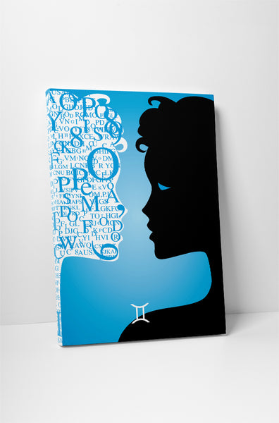 Zodiac Sign Gemini Canvas Wall Art