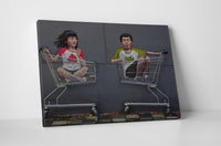 Ernest Zacharevic - Children Riding Shopping Carts