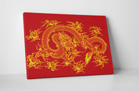 Chinese Dragon Canvas Wall Art