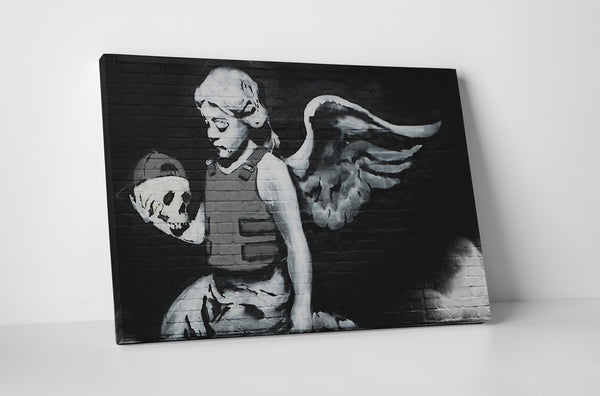 Banksy Armored Angel Canvas Wall Art