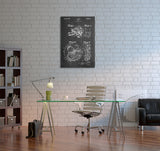 Video Camera Patent Canvas Wall Art