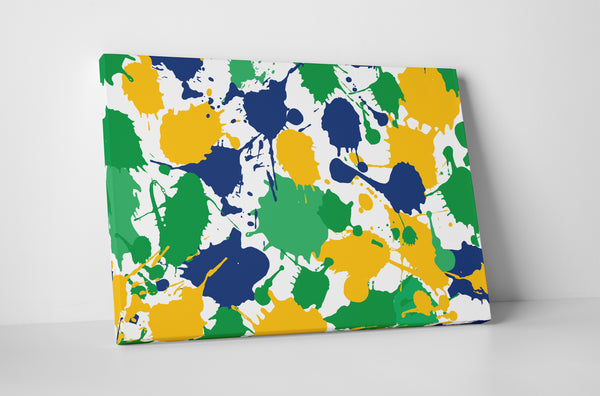 Paint Splats Canvas Wall Art