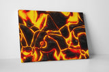 Hot Lava Pattern Canvas Wall Art