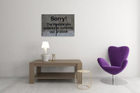 Banksy - Sorry! Lifestyle Ordered is Out of Stock