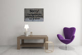 Banksy Sorry! Lifestyle Out of Stock Brushed Aluminum Metal Art Print