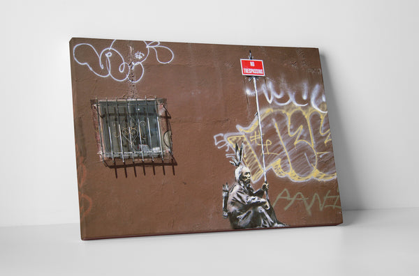 Banksy -No Trespassing Indian