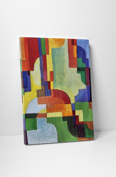 August Macke Colored Forms I Canvas Wall Art