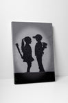 Banksy Girl Meets Boy Canvas Wall Art