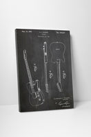 Fender Electric Guitar Patent Canvas Wall Art