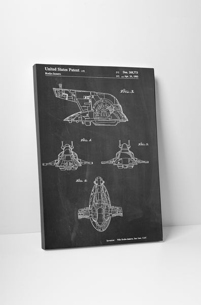 Star Wars Slave One Patent Canvas Wall Art