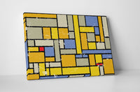 Abstract Colorful Squares II Canvas Wall Art