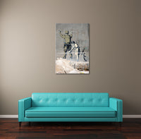 Banksy Girl Searching a Soldier Canvas Wall Art