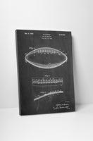 Football Patent Canvas Wall Art