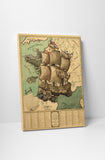 Vintage Map of Europe Canvas Wall Art