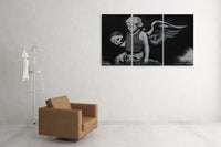 Banksy Armored Angel Triptych Canvas Wall Art