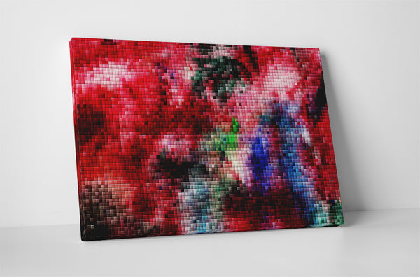 Colorful Pixel Mosaic Canvas Wall Art