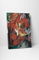 Franz Marc The Foxes Canvas Wall Art