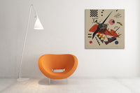 Wassily Kandinsky Orange Canvas Wall Art