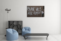 Banksy Blank Walls Are Criminal Canvas Wall Art