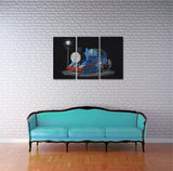 Banksy Sleeping Thomas The Tank Engine Triptych Canvas Wall Art