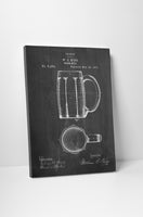 Beer Mug Patent Print Canvas Wall Art