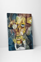 Cubistic Face Canvas Wall Art