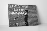 Banksy Last Graffiti Before Motorway Canvas Wall Art