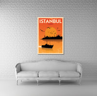 Istambul Vintage Travel Poster Canvas Wall Art