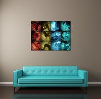 Zodiac Signs Collage Canvas Wall Art