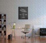 Star Wars A-Wing Patent Canvas Wall Art