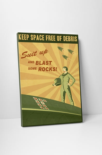 Steve Thomas Blast Some Rocks Canvas Wall Art