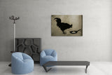 Banksy Chicken and Egg Brushed Aluminum Metal Art Print