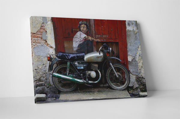 Ernest Zacharevic - Old Motorcycle