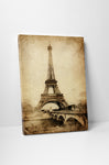Eiffel Tower Vintage Post Card Canvas Wall Art