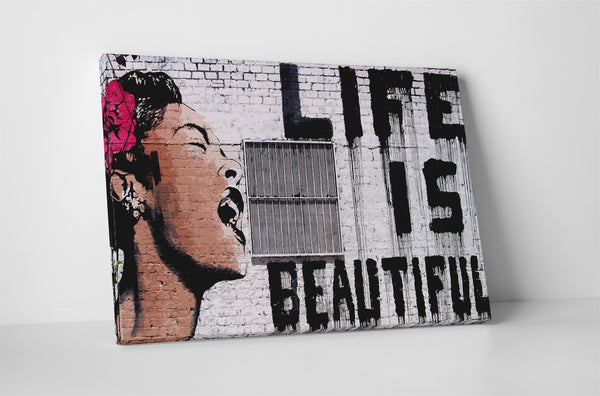 Banksy Life Is Beautiful Canvas Wall Art