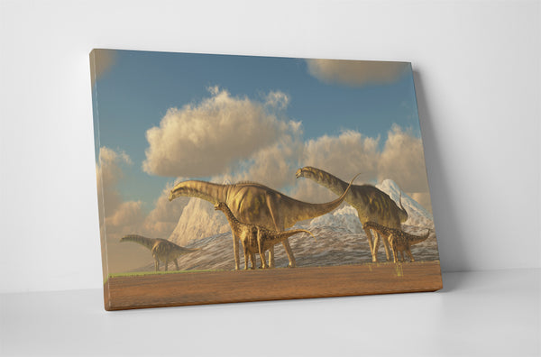 Dinosaurs Diplodocus Canvas Wall Art