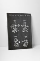 Lego Figure Patent Canvas Wall Art